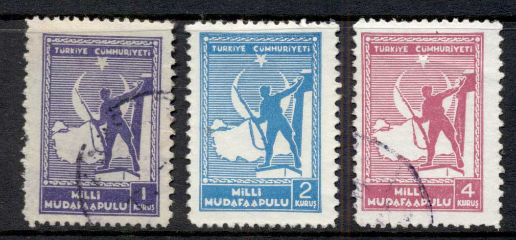 Turkey 1941 Postal Tax Red Crescent Asst MLH/FU