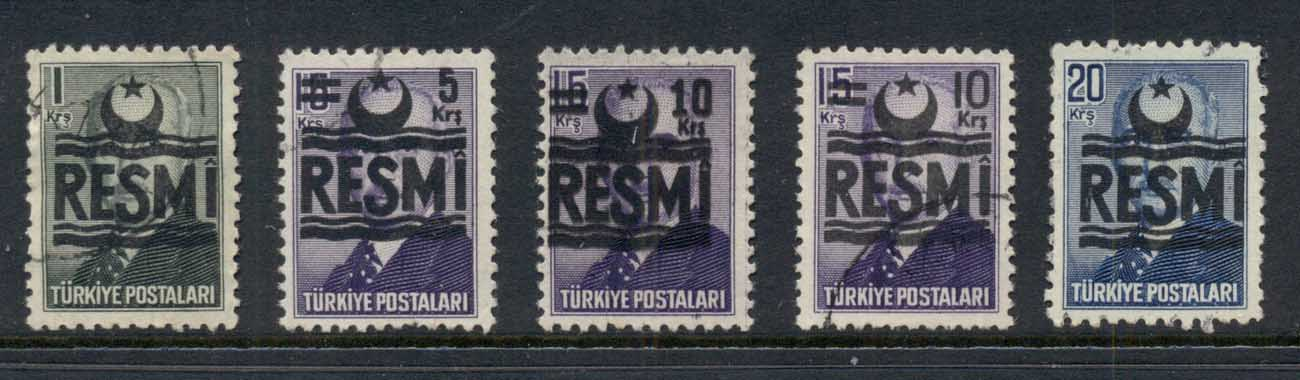 Turkey 1955 Officials FU