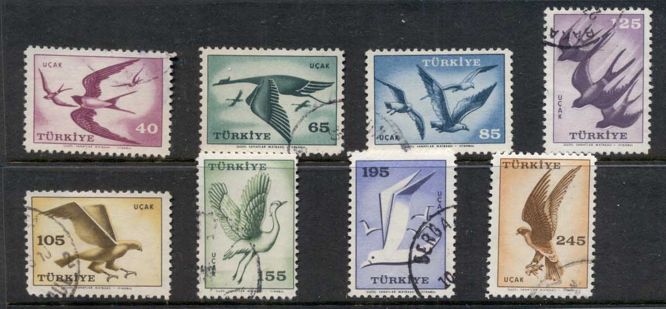 Turkey 1959 Airmail, Birds FU