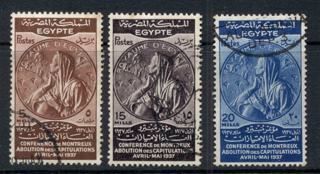 Egypt 1937 Medal for Montreaux Conference (faults) FU
