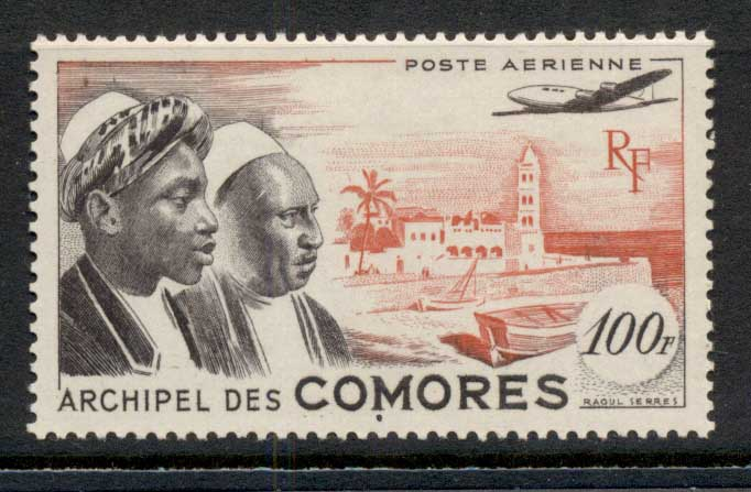 Comoro Is 1950 Comoro Men & Moroni House 10f MLH