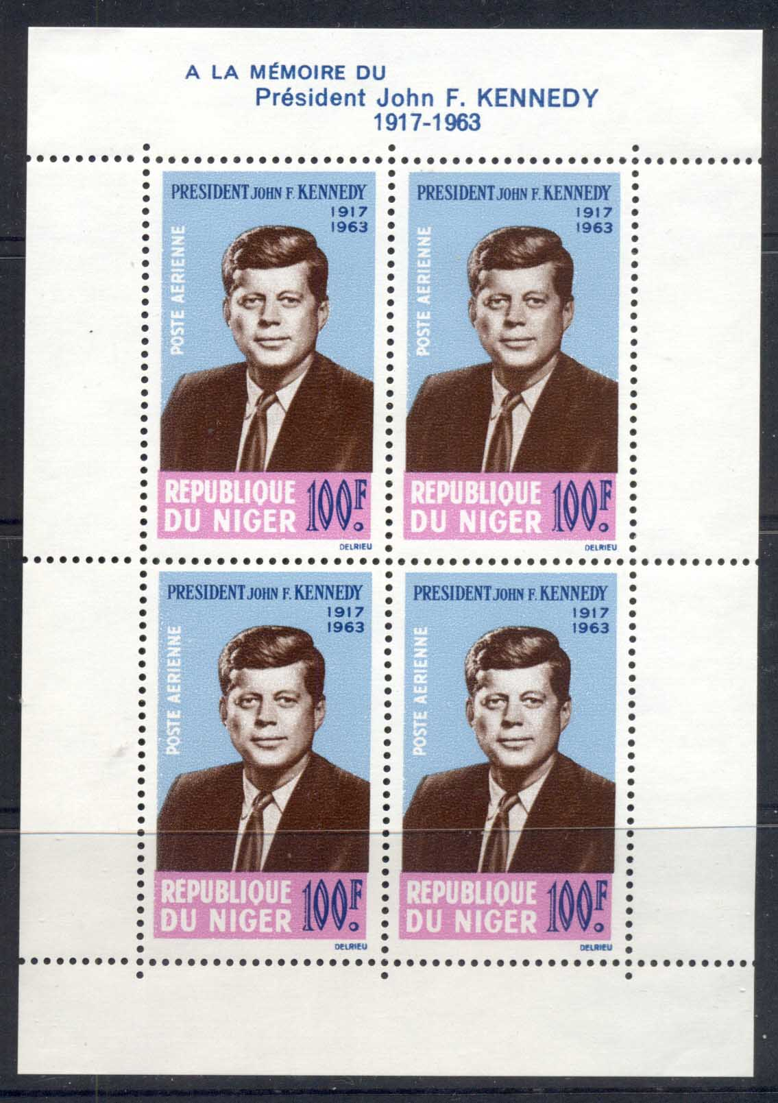 Niger 1963 JFK Kennedy MS MUH