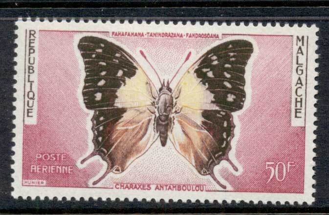 Madagascar 1960 Butterfly 50f MLH