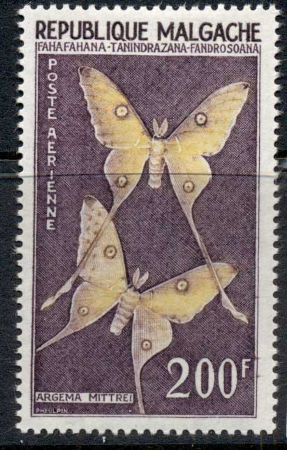 Madagascar 1960 Butterfly 200f MLH