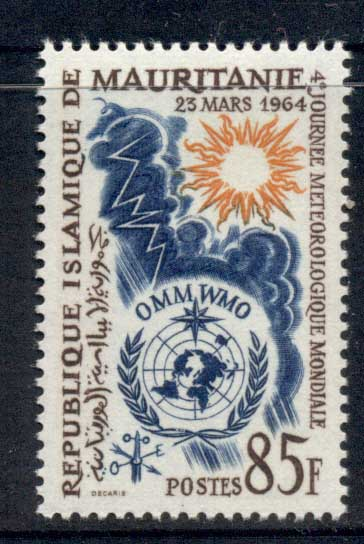 Mauritania 1964 World meterological Day MLH