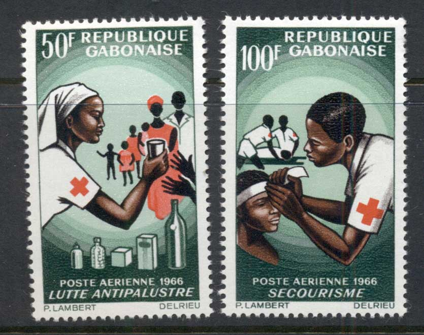 Gabon 1966 Red Cross MLH