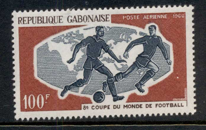 Gabon 1966 World Cup Soccer Wembley MLH