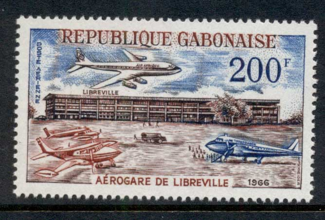 Gabon 1966 Inauguration of Libreville Airport MUH