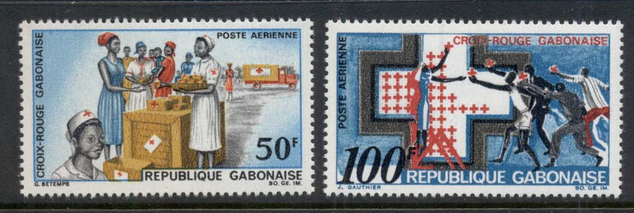 Gabon 1968 Red Cross MUH