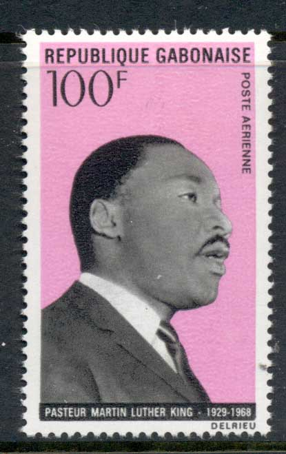 Gabon 1969 Exponents of non Violence MLK King MUH