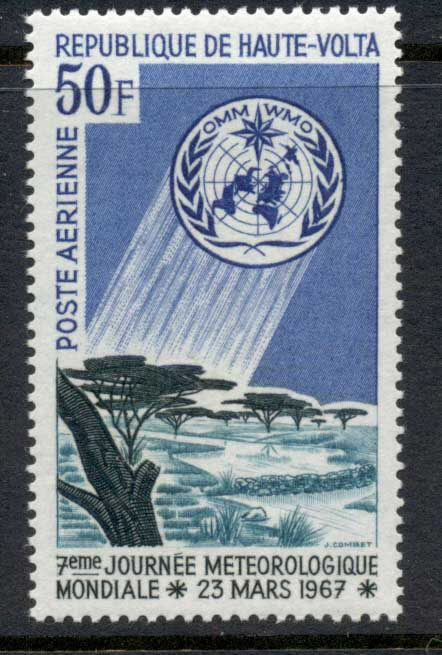 Upper Volta 1967 World Meterological Day MUH
