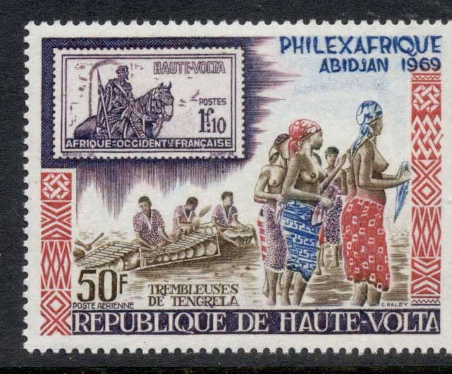 Upper Volta 1969 Philexafrique MUH