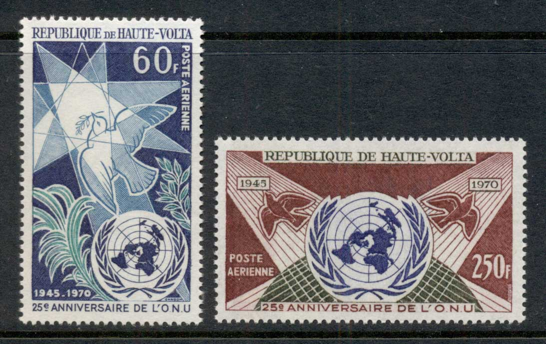 Upper Volta 1970 UN 25th Anniv. MUH