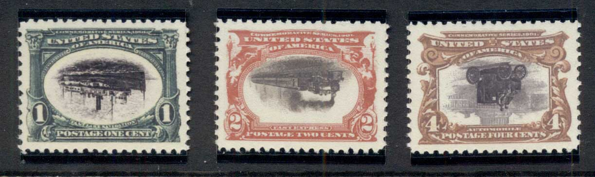 USA 1901 Sc#294-99 REPRODUCTION INVERTS Pan-American Exposition REPRODUCTION
