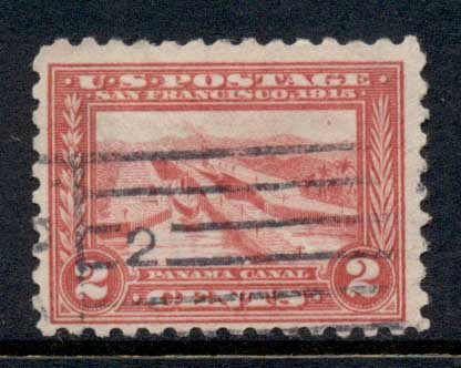 USA 1914-15 Sc#402 2c Panama-Pacific Exposition Perf 10 FU