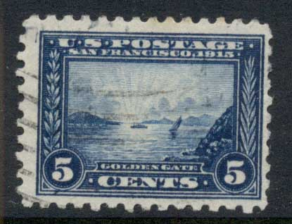 USA 1914-15 Sc#403 5c Panama-Pacific Exposition Perf 10 FU