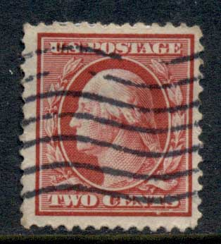 USA 1910-11 Sc#375 2c carmine Washington Perf 12 Wmk S/L FU