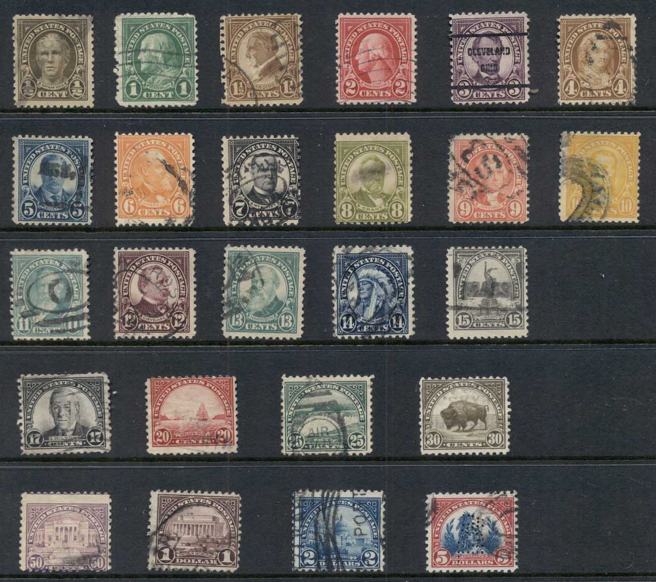 USA 1922-25 Sc#551 on Third Bureaus Flat Plate Perf 11 FU