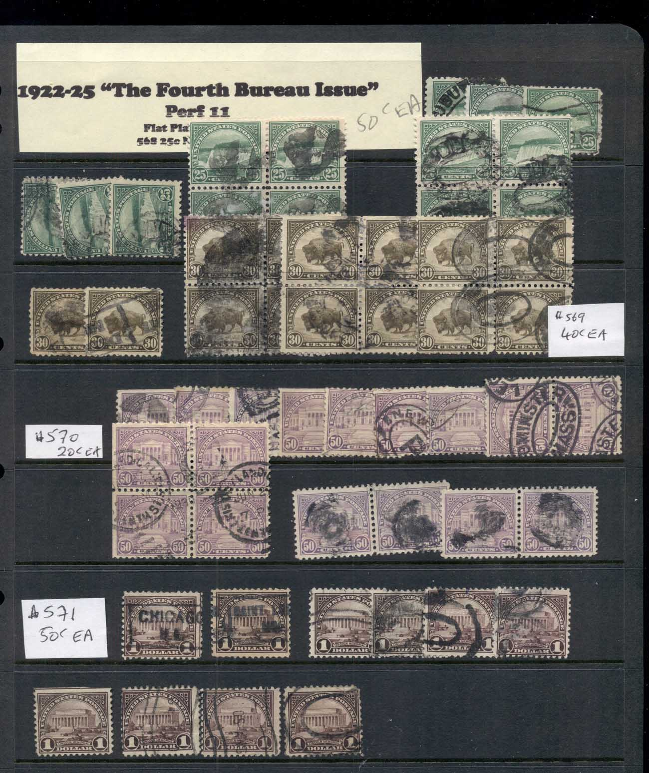 USA 1920's on Assorted Oddments Fourth Bureau issues 16 scans