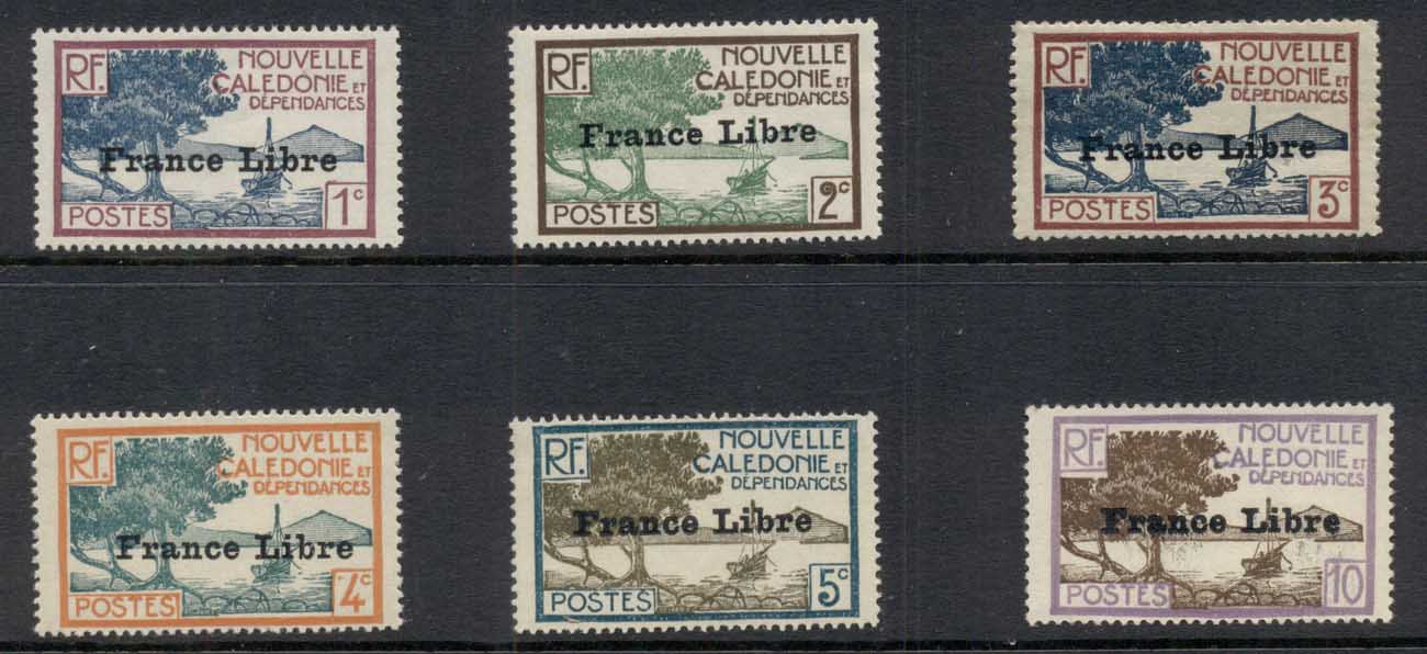 New Caledonia 1941 Pictorials Asst Opt France Libre MLH
