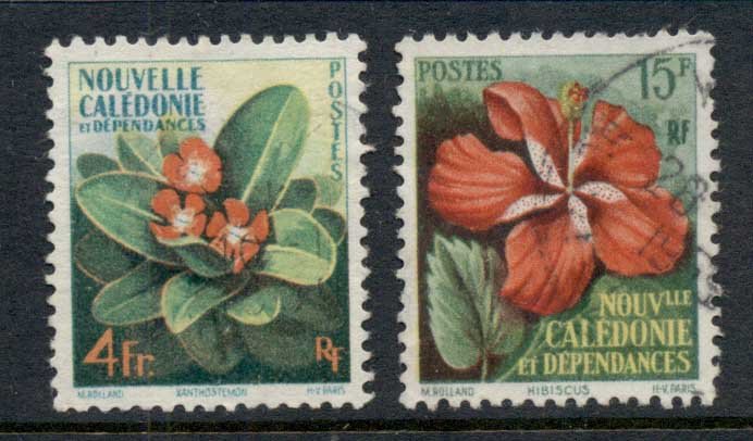 New Caledonia 1958 Flowers FU