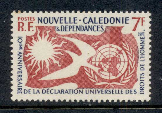 New Caledonia 1958 Human Rights MUH