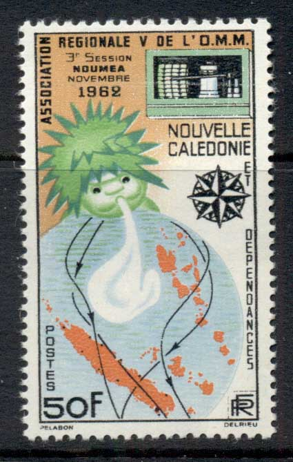 New Caledonia 1962 World meterological Assoc MUH