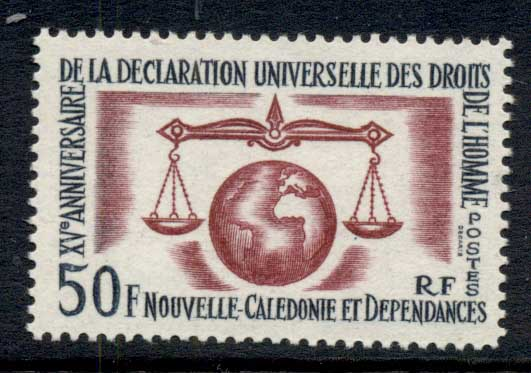New Caledonia 1963 Human Rights MUH
