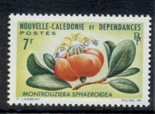 New Caledonia 1964 Flowers 7f MUH