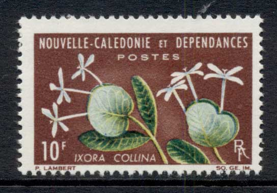 New Caledonia 1964 Flowers 10f MUH
