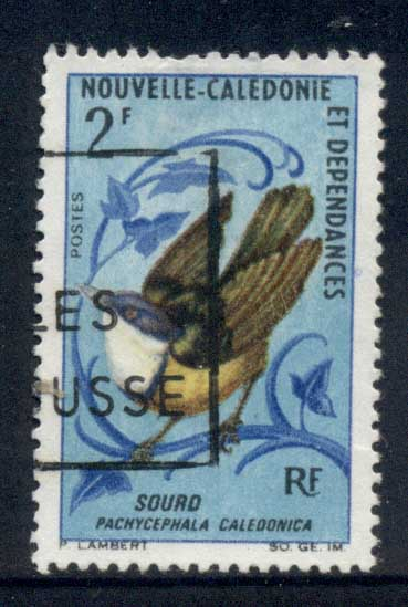 New Caledonia 1967 Birds 2f FU