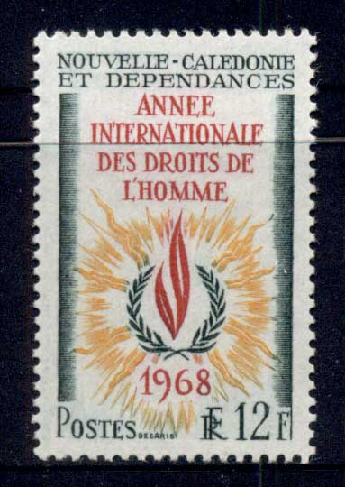 New Caledonia 1968 Human Rights MUH