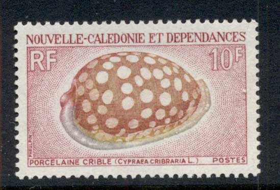 New Caledonia 1970 Shells 10f MLH