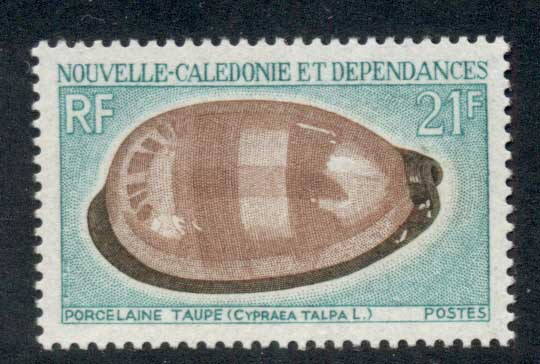 New Caledonia 1970 Shells 21f MLH