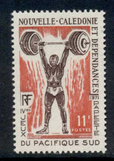 New Caledonia 1971 South Pacific Games Papeete 11f Weightlifting MUH