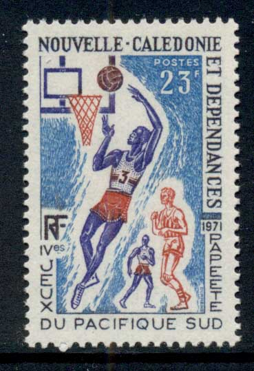 New Caledonia 1971 South Pacific Games Papeete 23f Basketball MUH