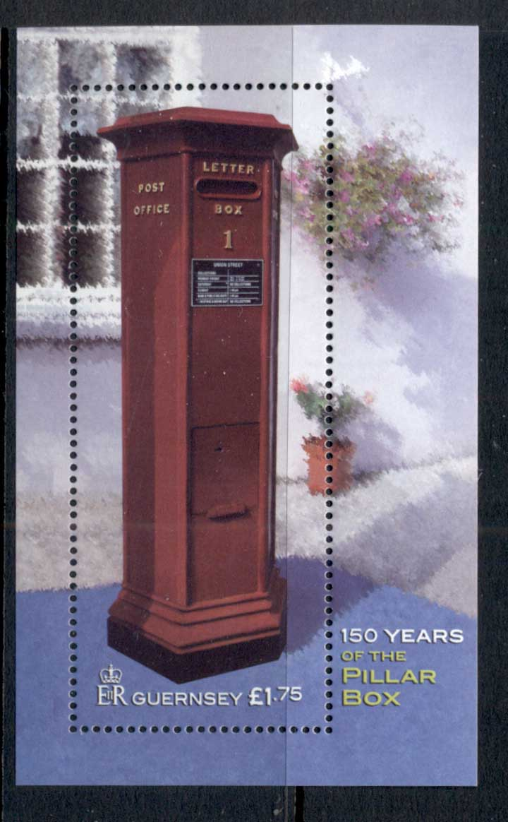 Guernsey 150 Years of the Pillar Box MS MUH