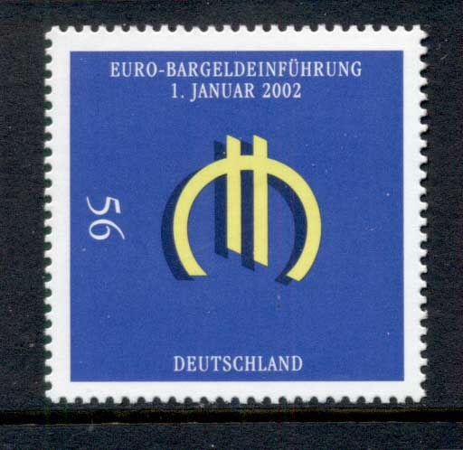 Germany 2002 Introduction of the Euro MUH