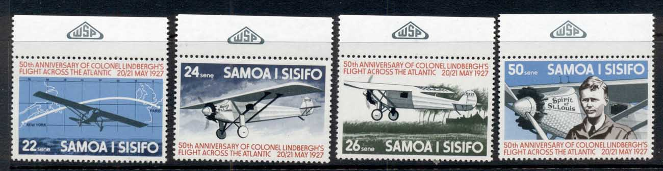 Samoa 1977 Lindberg Solo Trans Atlantic Flight MUH