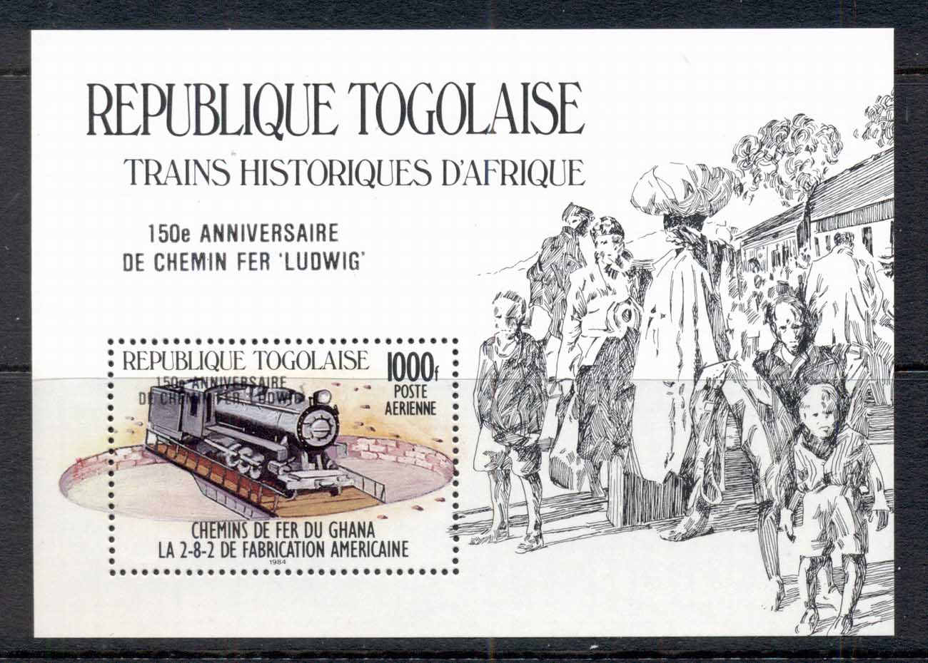 Togo 1985 Trains Opt Ludwig MS MUH