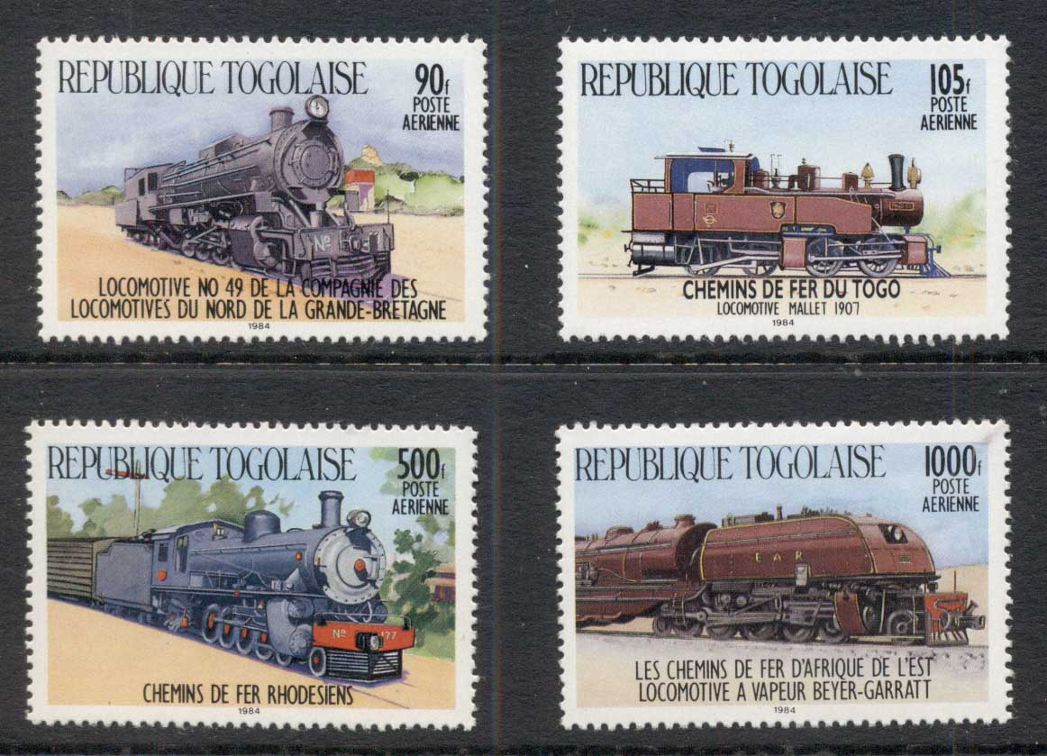 Togo 1984 Trains, Airmails MUH