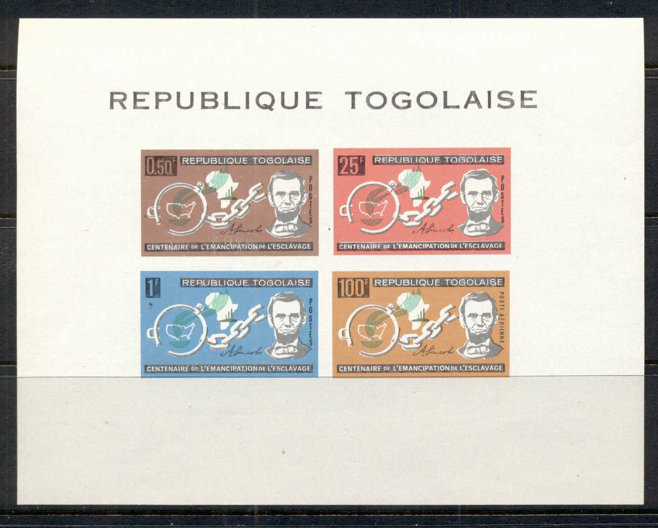 Togo 1963 Emancipation of Slavery Lincoln MS MLH
