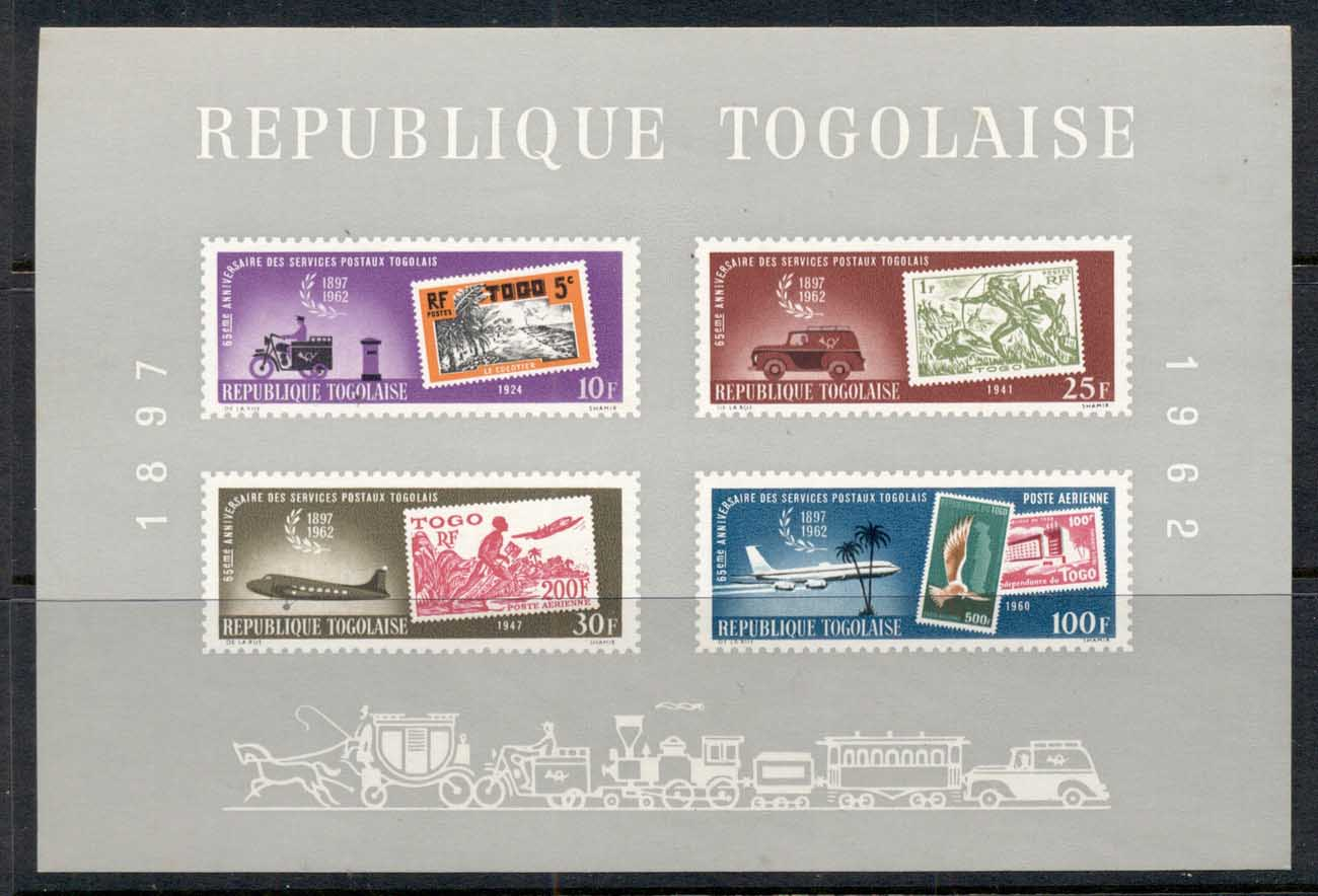 Togo 1962 Mail Service (light gum tone spots) MS MUH