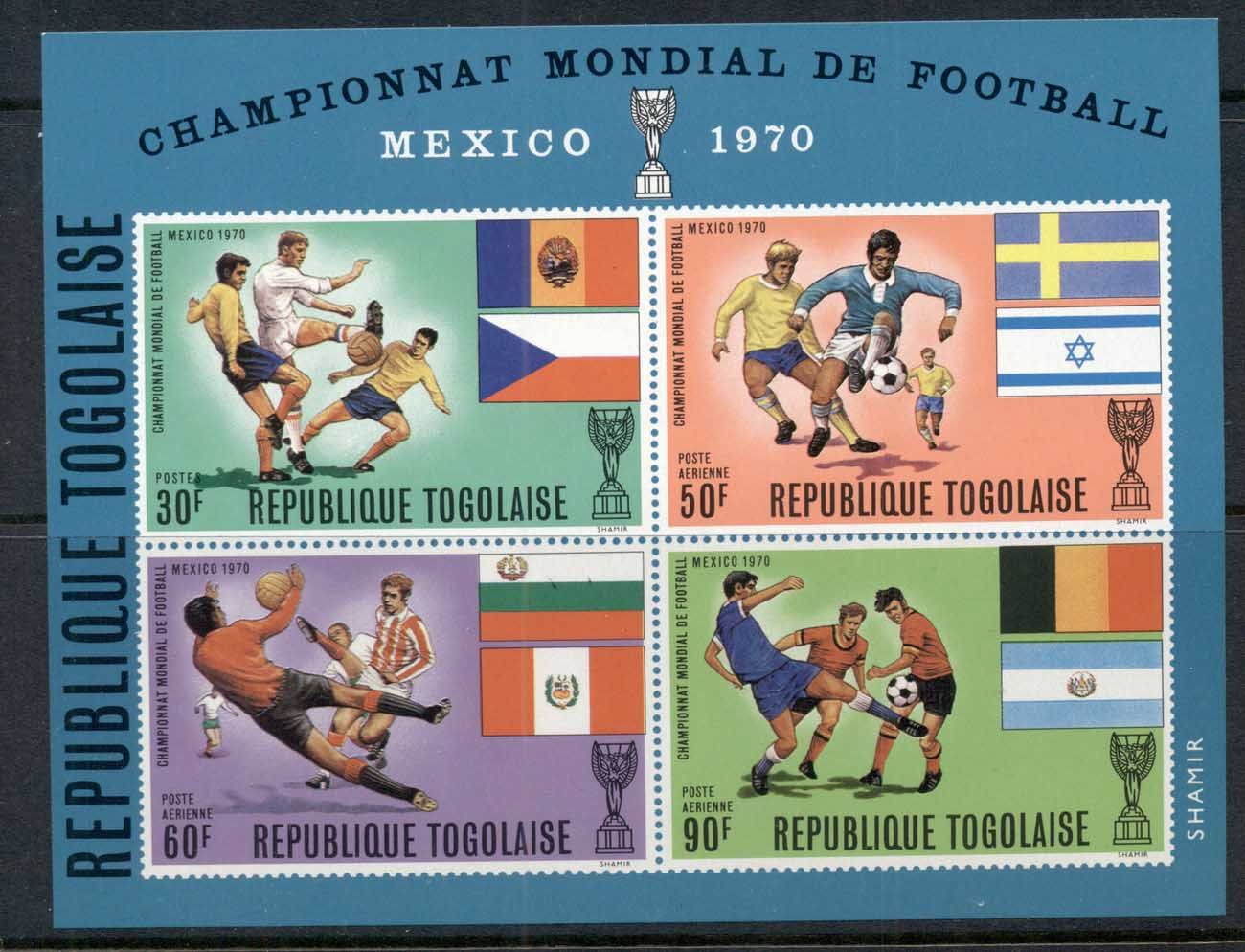 Togo 1970 World Cup Soccer Mexico MS MUH