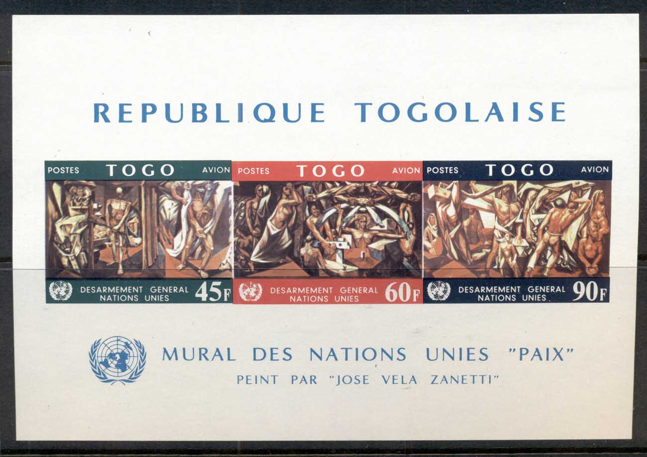 Togo 1967 UN General Disarmament, Paintings MS MUH