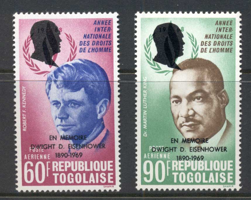 Togo 1969 Human Rights Kennedy, King Opt Eisenhower Airmails MUH