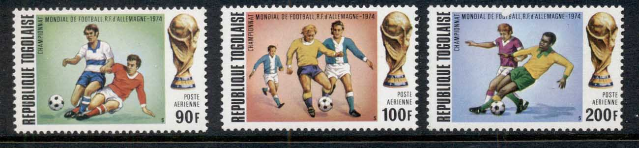 Togo 1974 World Cup Soccer Airmails MUH