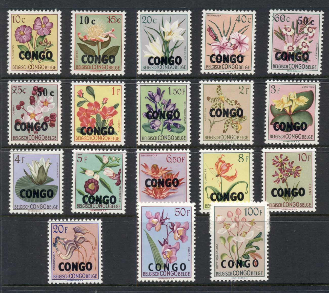 Congo DR 1960 Flowers Opts MLH