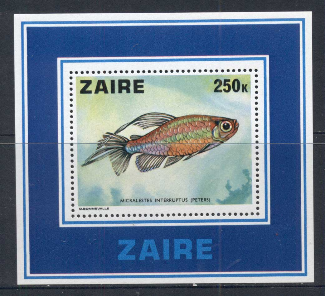 Zaire 1978 Tropical Fish MS MUH