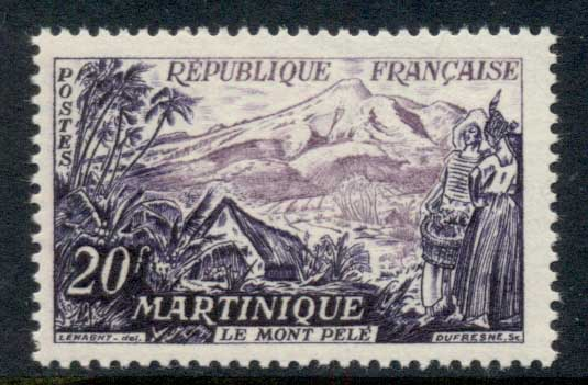 France 1955 Mount Pelee Martinique MUH